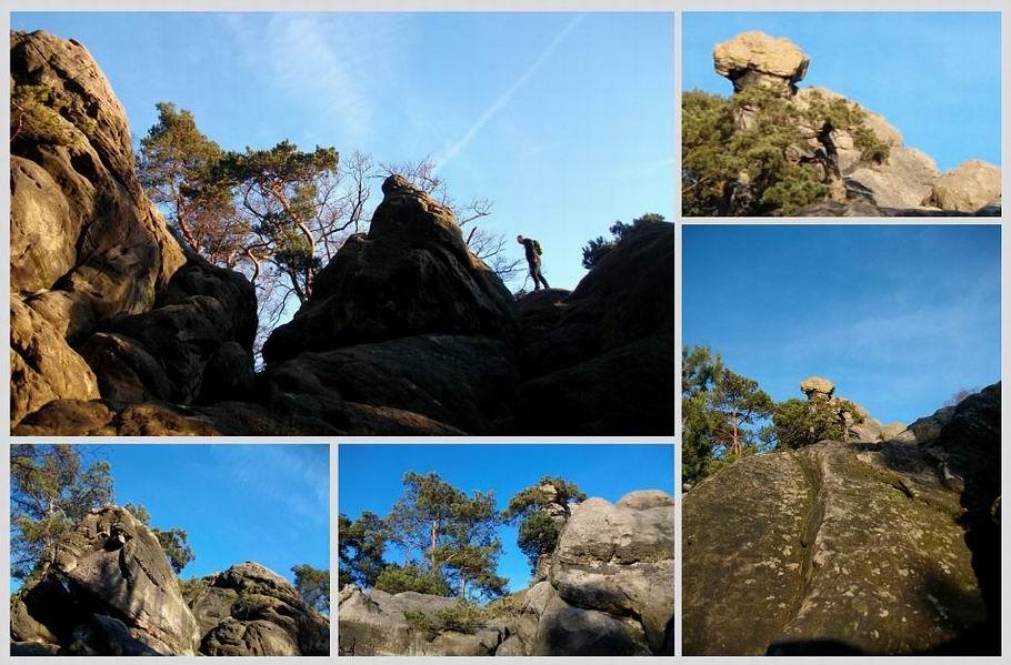 Hockendes Weib - Ein Felsen in den Dörenther Klippen