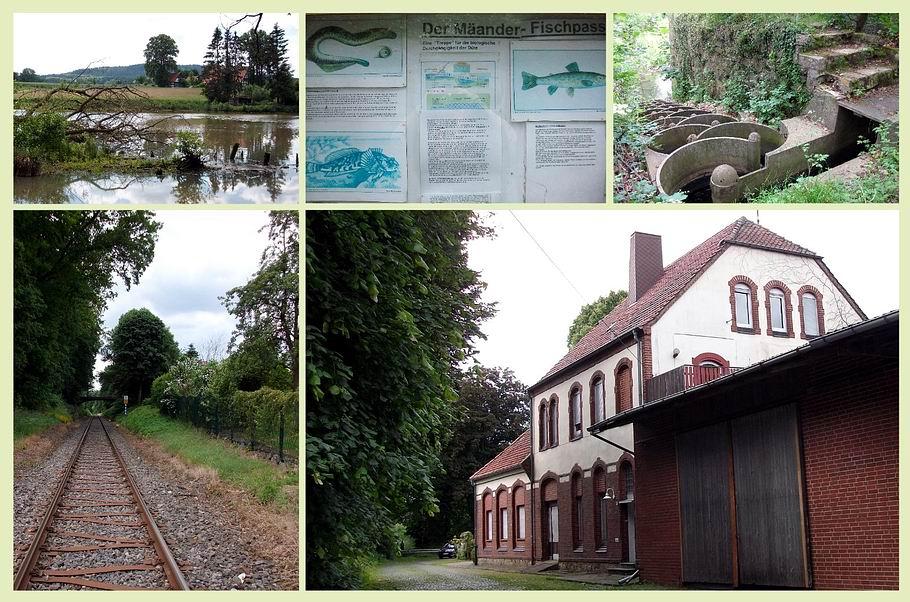 Georgsmarienhütte/Kloster Oesede - Mäander-Fischpass an der Düte - Alter Bahnhof