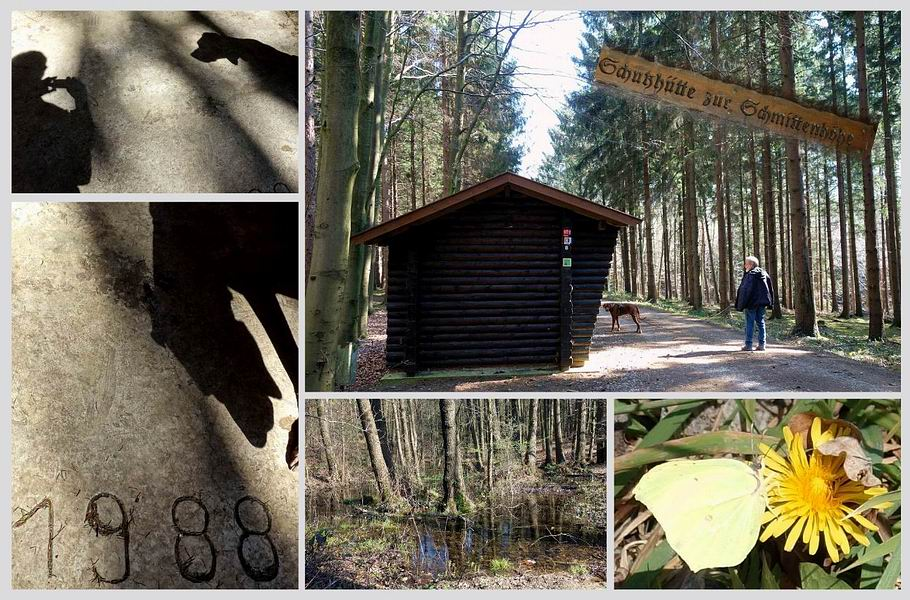 Schattenspiele in der Schutzhütte zur Schmittenhöhe - Quellgebiet des Kalkrieser Mühlenbachs