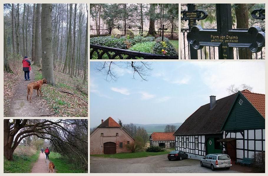 Grabstätte von Oheimb - ehe. Rittergut Hudenbeck