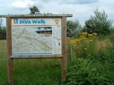 belm bei osnabrueck - wandertafel diva walk