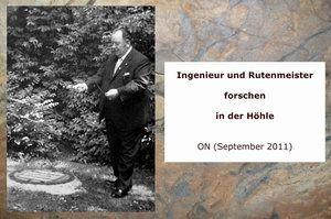 Gertrudenberger Höhlen - Ingenieur und Rutenmeister forschen in der Höhle