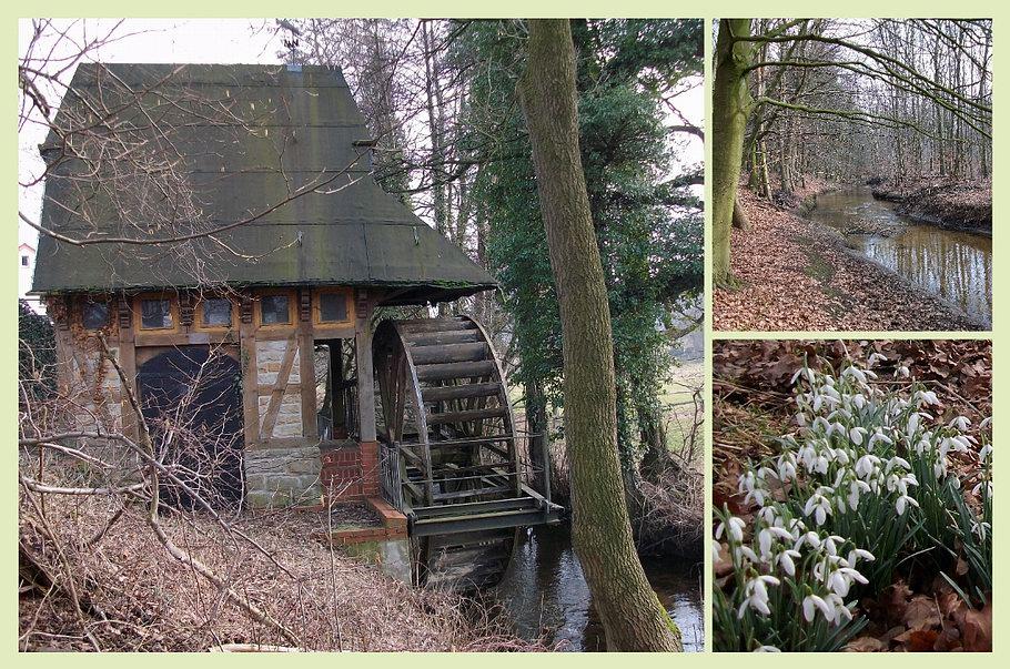 Rulle - kleine Wassermühle an der Nette