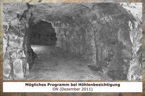 Gertrudenberger Höhlen - Mögliches Programm bei Höhlenbesichtigung