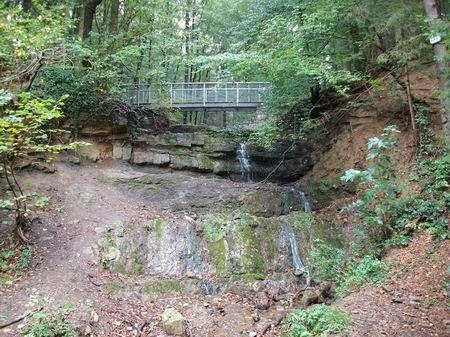 Rödinghausen Wanderung zum Grünen See Wasserfall