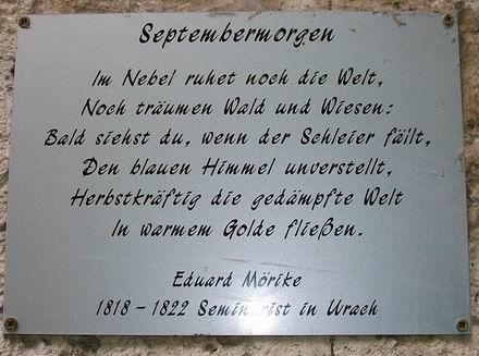 """""""Septembermorgen"""" von Eduard Mörike bei den Gütersteiner Wasserfällen / Bad Urach"""