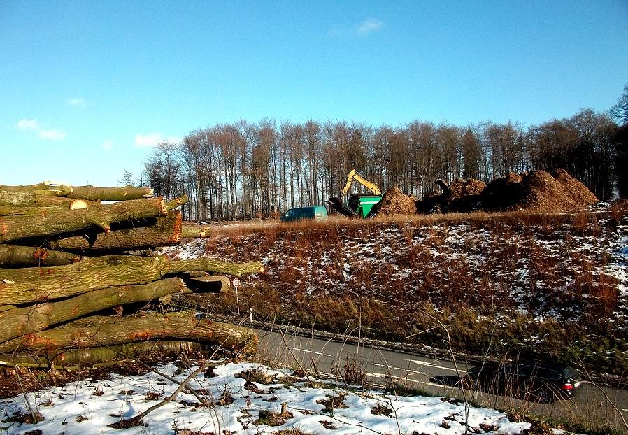 Baustelle A33 Nord bei Osnabrück / Belm