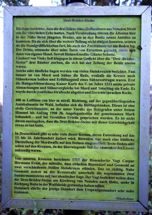 """Infotafel """"Drei-Brüder-Steine"""""""