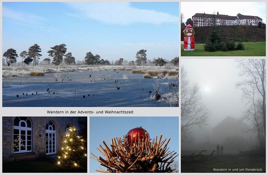 Wandern in der Advents- und Weihnachtszeit rund um Osnabrück