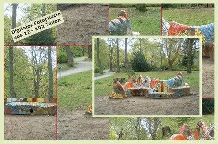 Bürgerpark-Puzzle Mosaikbank1