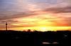 Schinkelturm bei Sonnenuntergang