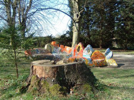 osnabrueck buergerpark mosaikbank