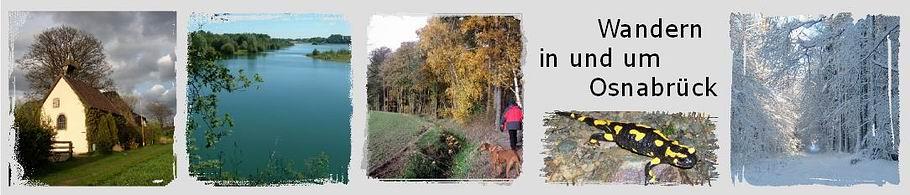 Banner der Homepage Wandern in und um Osnabrück