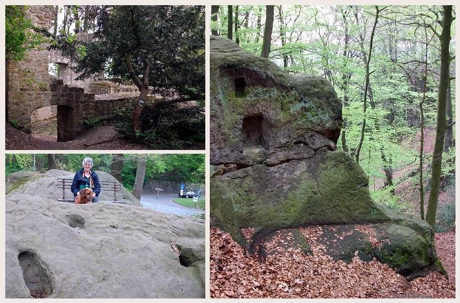 Tecklenburger Hexenpfad: Burgrunine - Teufelsspuren - Nischen und Blutrinne