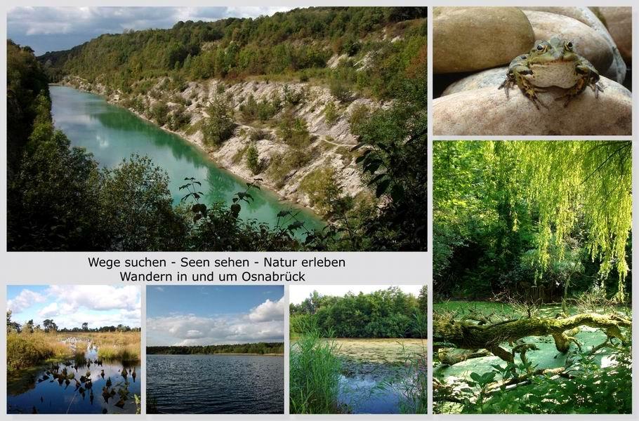 Wandern in und um Osnabrück - Seen - Willkommenscollage 2