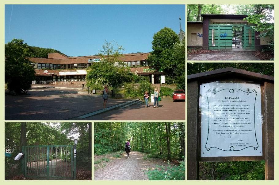 Schölerberg - alter und neuer Zooeingang - Gedenktafel