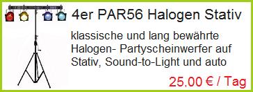 4er PAR46 Partyscheinwerfer mieten Rosenheim, Bad Endorf