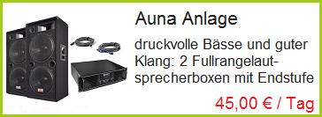 Auna Sound Anlage leihen Rosenheim, Bad Endorf
