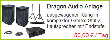 Dragon Audio Sound Anlage ausleihen in Rosenheim und Bad Endorf