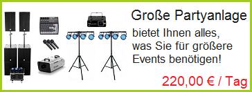 Große Partyanlage mit Pioneer DJM 900 NXS2 und CDJ-2000 NXS2 mieten.