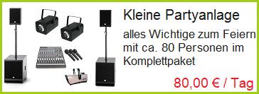 kleine Partyanlage mieten in Rosenheim, Bad Endorf und Prien am Chiemsee