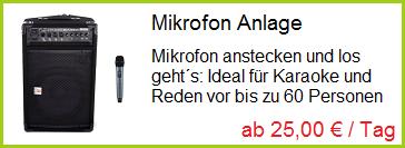 Mikrofon Anlage | ab 20,00 € / Tag