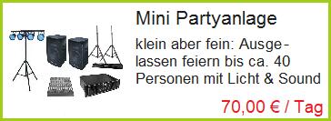 mini Partyanlage leihen in Rosenheim, Bad Endorf und Prien