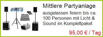 Mittlere Partyanlage mieten Rosenheim und Bad Endorf, Red Medientechnik