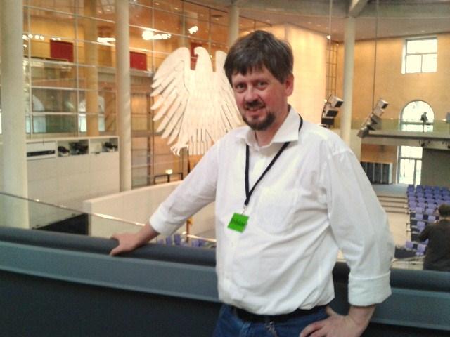 Dietrich Meier 2014 im deutschen Bundestag in Berlin