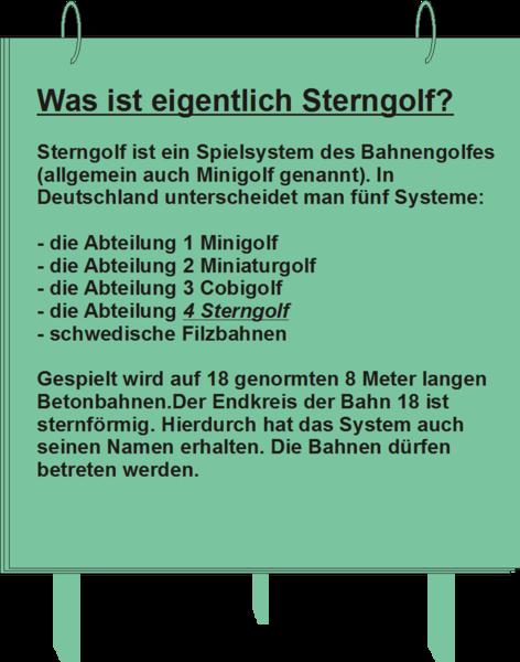 Erklärung Sterngolf
