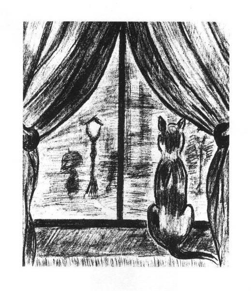 Fenster bleistiftzeichnung  Ramona Stolle