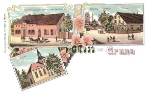 Ansichtskarte Lithographie Gruna
