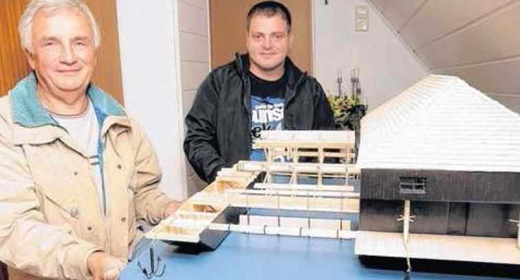 Modell Schiffmühle Gruna