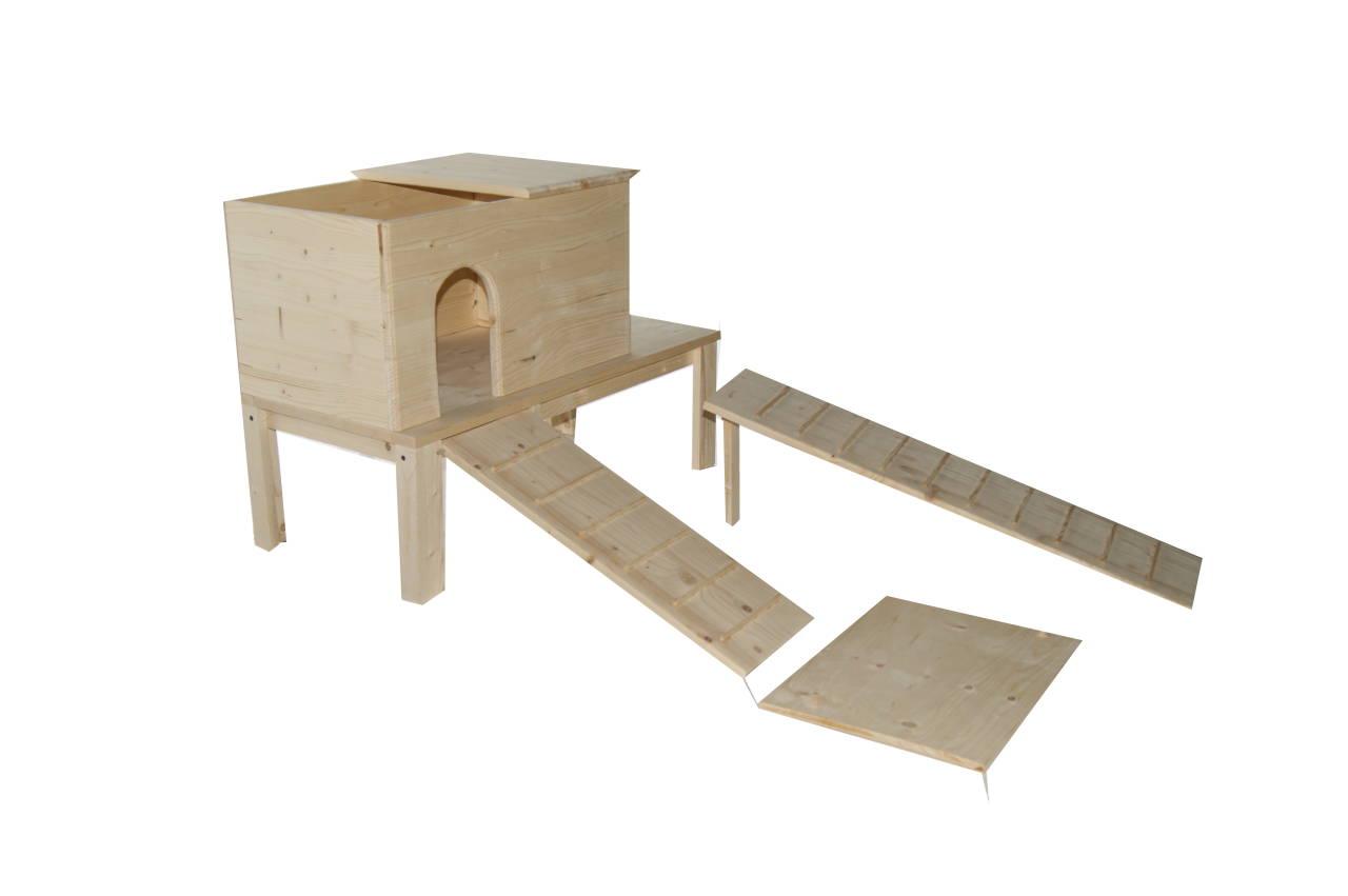 haus f r kaninchen meerschweinchen und andere kleintiere. Black Bedroom Furniture Sets. Home Design Ideas