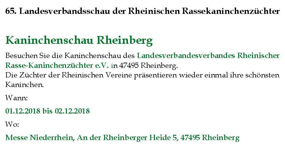 Termin Landesschau 2018