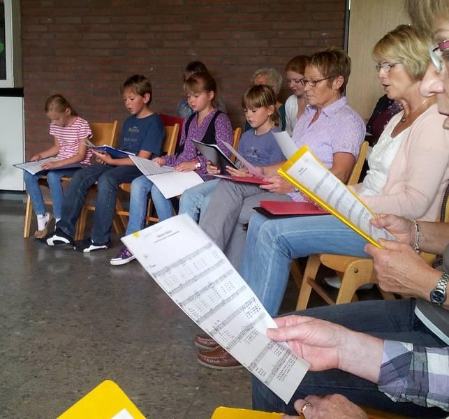Probe am 15.09.2012 in der Aula der Gemeinschaftsgrundschule Bislich