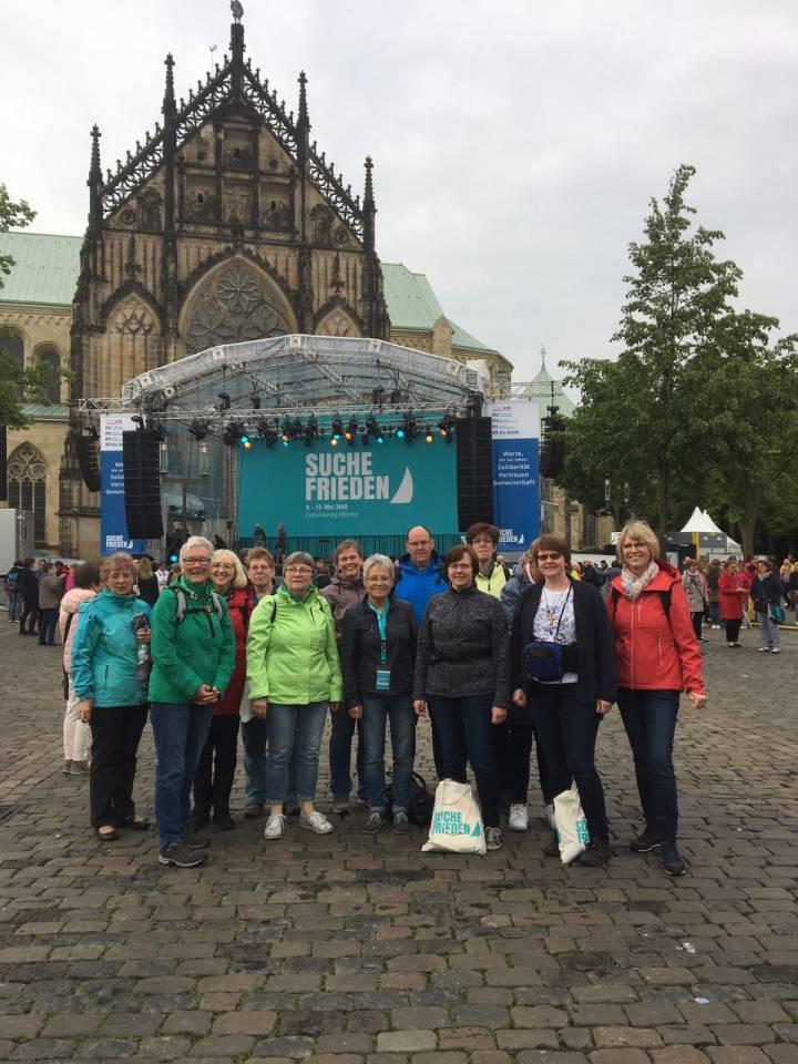 Mit 14 Sängerinnen und Sängern beim Katholikentag in Münster
