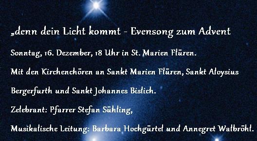 Evensong im Advent 2018