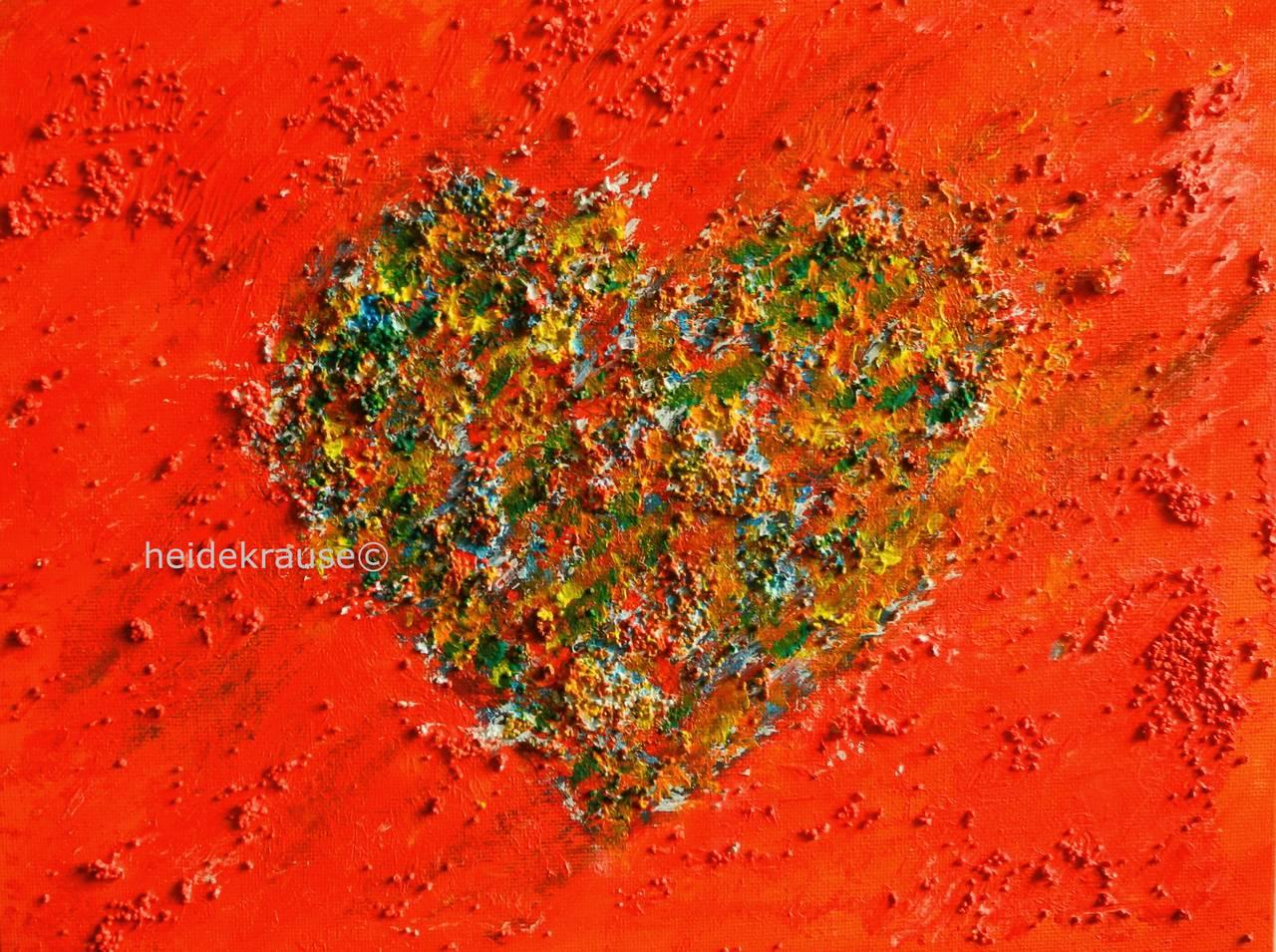 Herzlich - Acryl