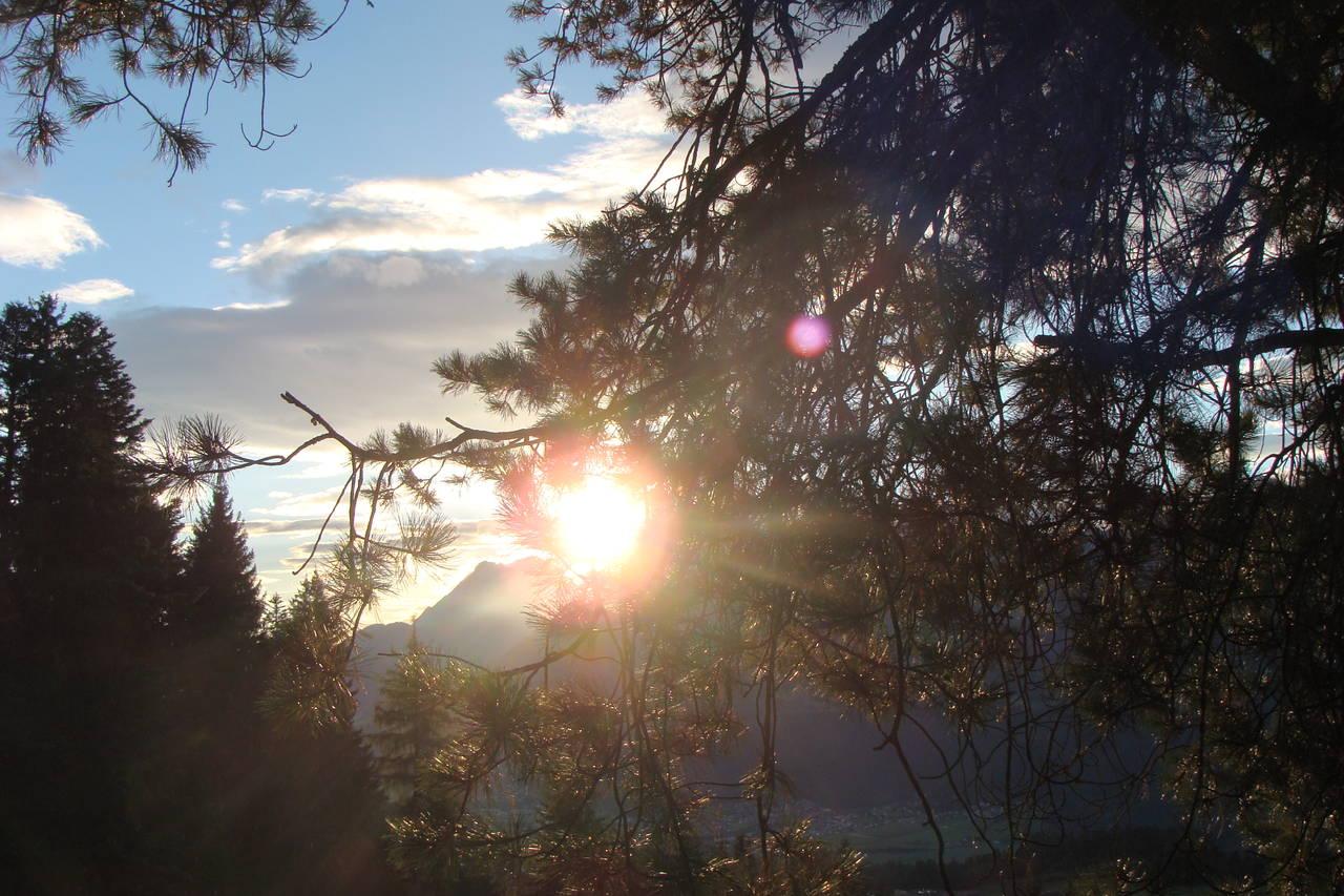 Sonnenuntergang - beim Shamanic-Energy-Center
