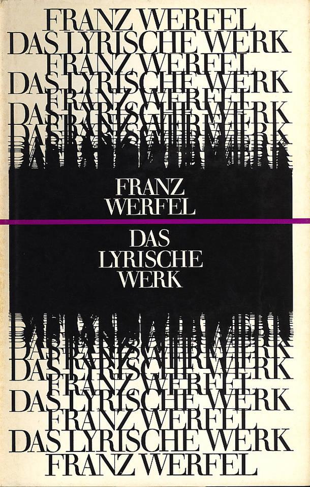 Werfel, Franz - das lyrische Werk