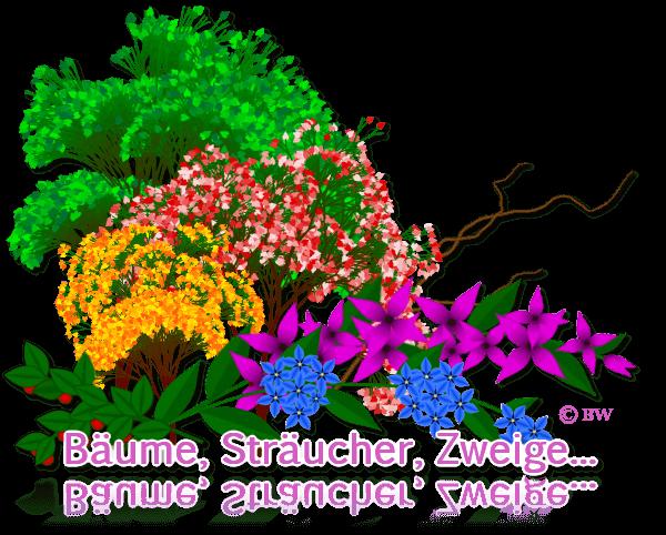 Bäume, Sträucher, Zweige, gebastelt, mit Paint.net erstellt, Grafik, Clipart, Gif, kostenlos, gratis Download