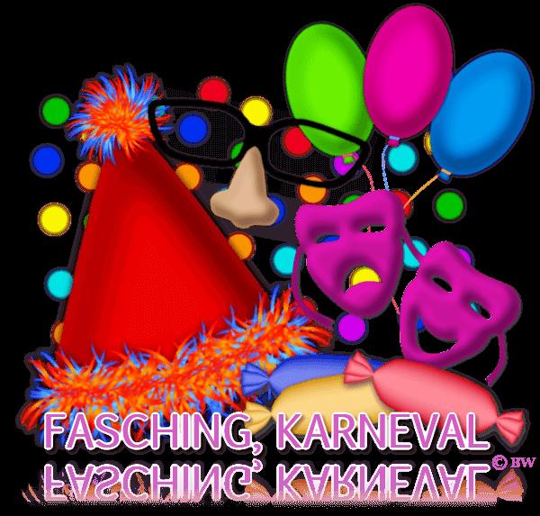 Fasching, Karneval, Helau, Allaaaf, Konfetti, Masken, Luftballons, Brille mit Nase, rote Nase, Kamelle, Bonbons, Grafik, Clipart, Gif, kostenlos, gratis Download, mit Paint.net erstellt