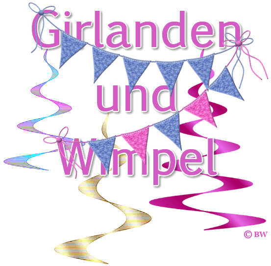 Wimpel, Girlanden, Grafik, Clipart, Gif, kostenlos, gratis Download, mit Paint.net erstellt