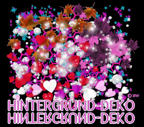 Hintergrund Deko, Herzen, Blätter, Herbstlaub, Gitter, Muster, Leuchten, Ringe, Sterne, Konfetti, KLeuchten, Grafik, Clipart, Gif, kostenlos, gratis Download