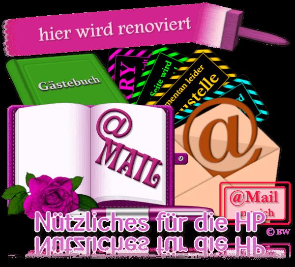 Nützliches für die HP, eMail, Mail, E-Mail, Baustelle, Gästebuch, Gästebücher, Grafik, Clipart, Gif, kostenlos, gratis Download, mit Paint.net erstellt