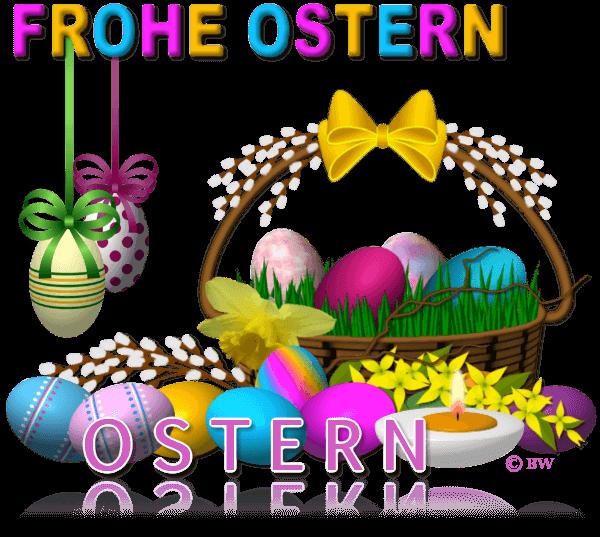 Ostern, Happy Eastern, Frohe Ostern, Osterkorb, Osterwiese, Ostereier, Eier, Eierschale, Grafik, Clipart, Gif, kostenlos, gratis Download, mit Paint.net erstellt