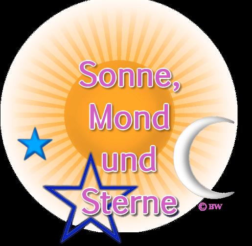 Sonne, Mond, Sterne, Grafik, Clipart, Gif, kostenlos, gratis Download, mit Paint.net erstellt