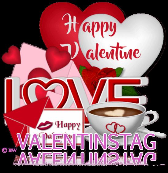 Valentinstag, Happy Valentine, Herzen, Herzbriefe, Briefe, Kaffeetasse mit Herzen, Luftballons, Herzluftballons, Lippen, Lippenstift, Love, Grafik, Clipart, Gif, kostenlos, gratis Download, mit Paint.net erstellt