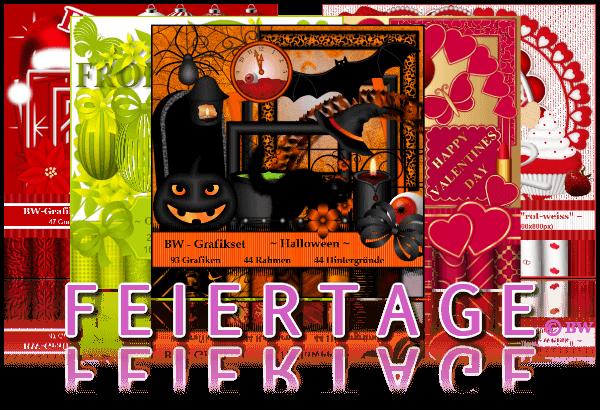 Valentinstag, Ostern, Halloween, Weihnachten, Feiertage, Grafiksets, Scrapkits, Grafiken, Cliparts, Gifs, kostenlos, gratis Download